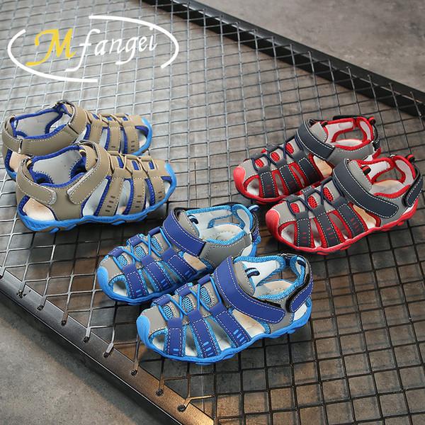 Crianças sapato verão nova moda coreana clássico meninos e meninas sandálias fábrica direto das crianças roupas para o comércio exterior