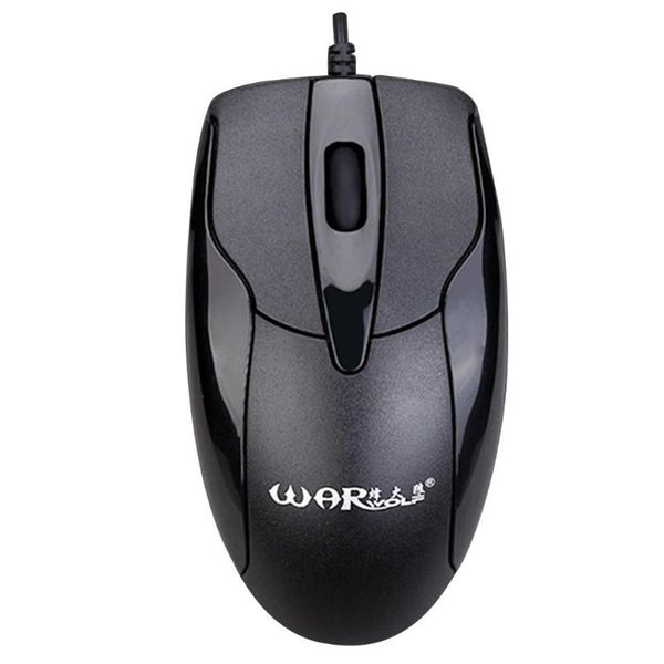 Professional Click USB Wired Gaming Mouse 3 Buttons 1200DPI Mute Optical Computer Mouse Mice for PC Laptop Notebook Game Gamer