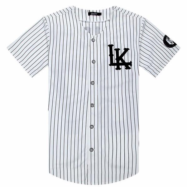 2018-2019 Sıcak Satılan Erkekler T-Shirt Moda Streetwear Hip Hop Beyzbol Forması Çizgili Gömlek Erkek Giyim Tyga Last Kings Giysileri J190613