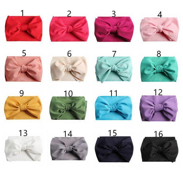 7 pouces Bébé Arcs Bandeaux Bowknot Cheveux Wraps Papillon Noeud Multicolore Hairbows Hoops pour Nouveau-Né Filles Filles decora 16Color A42202