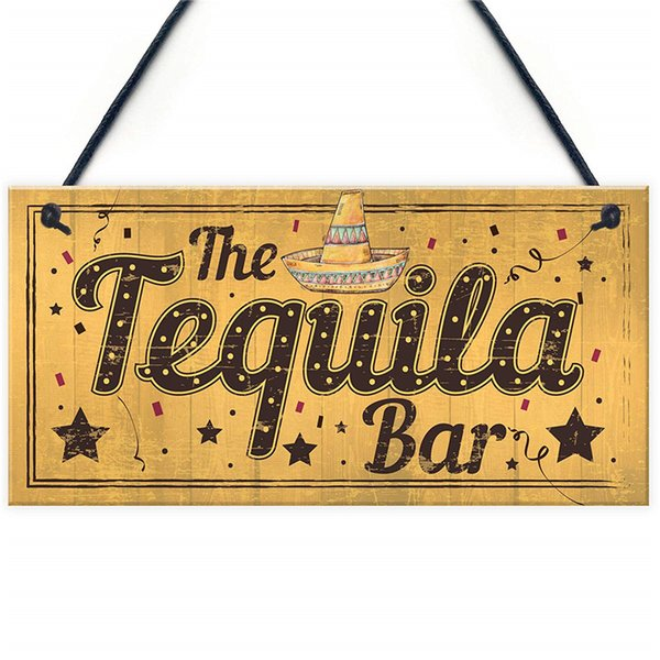 Shabby Chic The Tequila Bar Garden Home Bar Shed Pub Man Cave Plaque Friendship Gifts