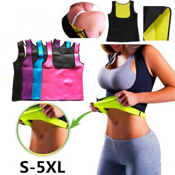 top popular Women Neoprene Body Shapers Shapewear Tank Push Up Vest Waist Trainer Tummy Belly Girdle Hot Body Shaper Waist Cincher Corset LJJA2509 2021