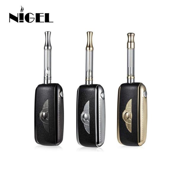 Nigel h chave vaporizador kit com chave do carro estilo 650 mah caixa mod bateria 510 rosca tanque de cera atomizador vape caneta melhor presente