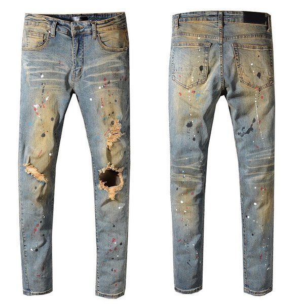 Mens Designer Pants Clothing Designer Mens Designer Jeans Slim Denim Straight Biker Skinny Jeans Mens Jeans