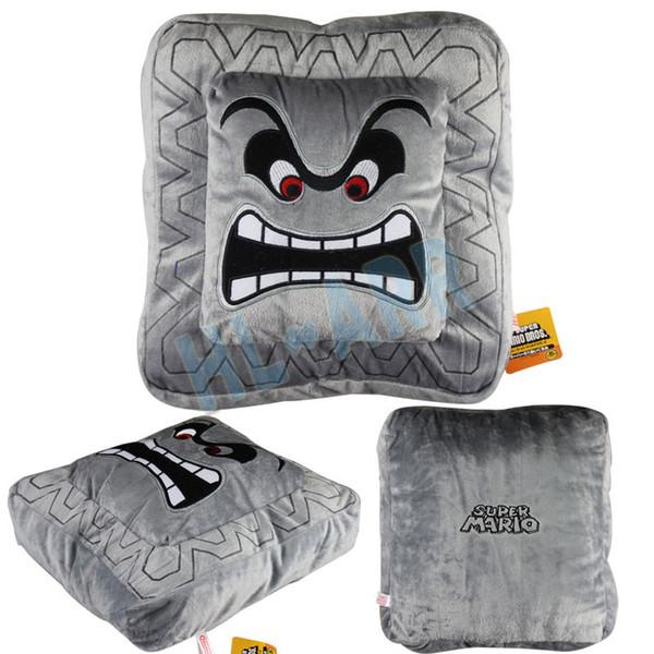 6 pouces Stone Pillow Place peluche Super Mario Bros.Thwomp Dossun Coussin souple et confortable 6po