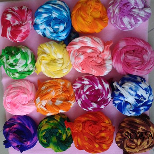 6pcs / Lot Çekme Çorap 2.0m Çok renkli Çiçek Naylon Çorap Malzeme Aksesuar El yapımı DIY Naylon Çiçek mi