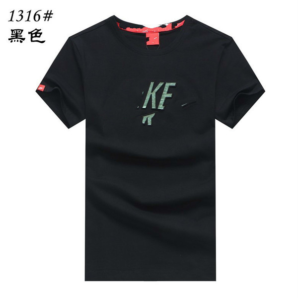 sellingMen's casual short-sleeved 2019 fashion classic summer new organic cotton loose comfortable breathable long T-shirt