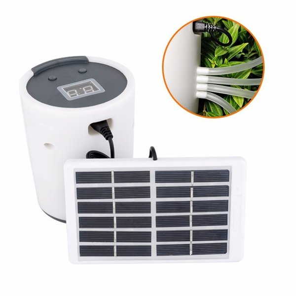 New Solar Energy Charging Intelligent Garden Automatic Watering Device Potted Plant Drip Irrigation Tool Water Pump Timer System