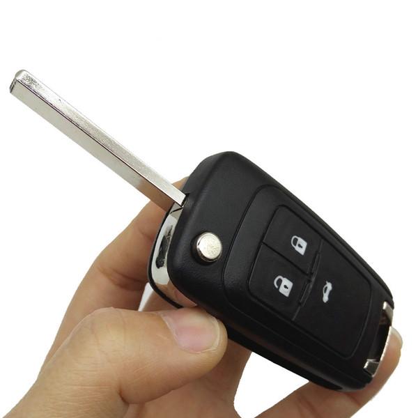 Caso chiave di ricambio Caso di copertura chiave pieghevole telecomando flip con lama FOB per Chevrolet Cruze Camaro Orlando Car Styling