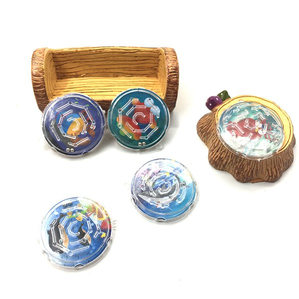 Cartoon Round Plastic Puzzle Beads Slot Maze Board Game Educational Toys Learning Intelligence Game For Kids Wholesale