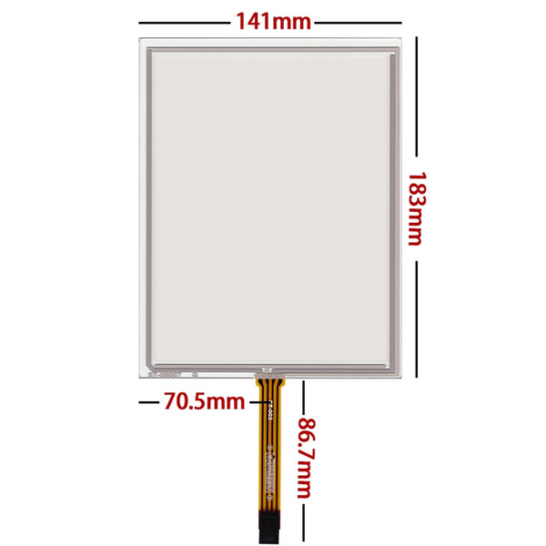 Skylarpu New 8 inch 183mm*141mm 4 wire Resistive Industrial application control equipment touch screen digitizer panel glass