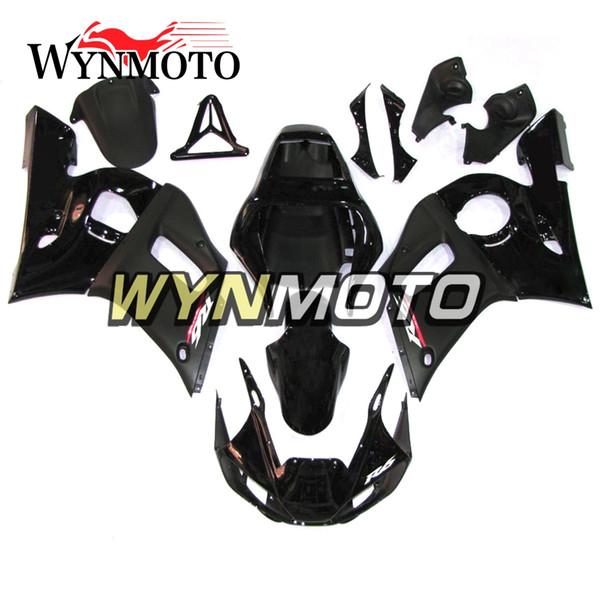 Cascos Matte Black Carenados de motocicleta para Yamaha YZF 600 R6 1998 1999 2000 2001 2002 ABS Inyección de plástico Kits de motos Cubiertas