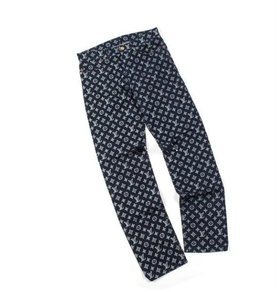 New Dark Blue Logo completo Jeans pantaloni a vita da uomo abiti da bagno jogging vestito da uomo s long dress giacche da uomo mens