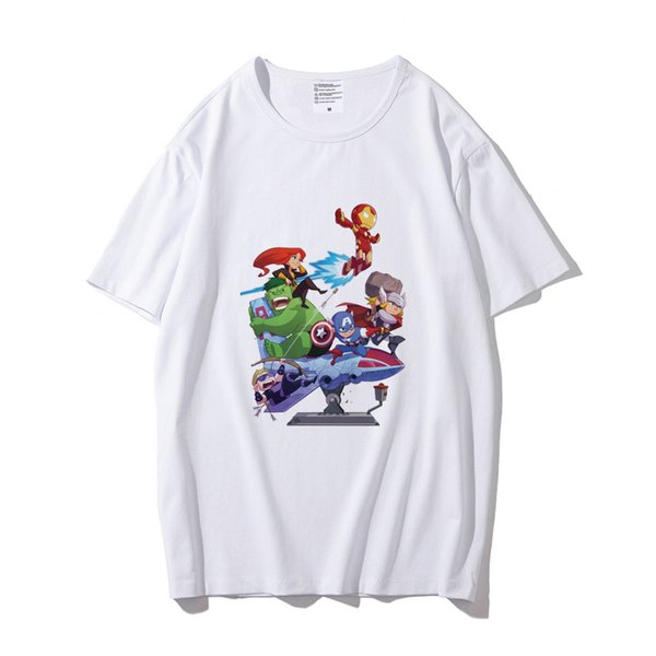 Avengers endgame t shirts men fashion designer summer tops tee tshirt white movie tv fans t-shirt for cheap