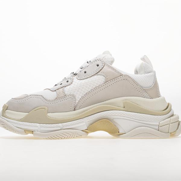 2019 Fashion Paris 17FW Sneaker Triple S Triple S Casual Chaussures De Luxe Papa De Luxe pour Hommes Femmes Beige Noir Sports Tennis Chaussure De Course 35-45