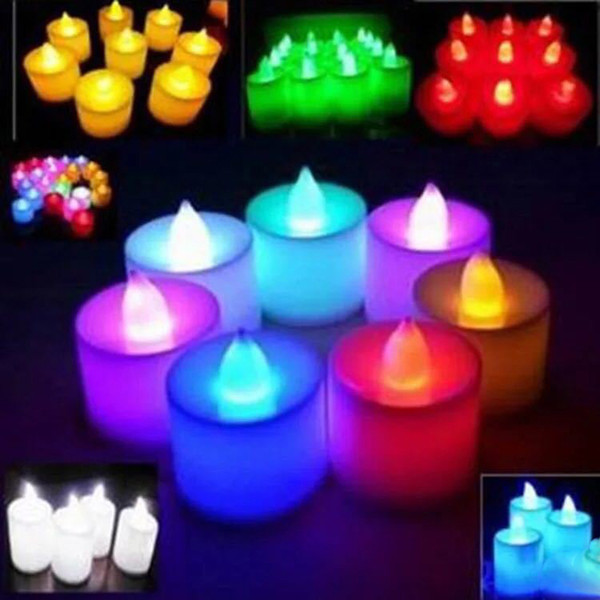 top popular Multicolor Electronic Candle Light LED Simulation Candle Light Birthday Wedding Flameless Flashing Candle Plastic Home Decoration BH1905 CY 2021