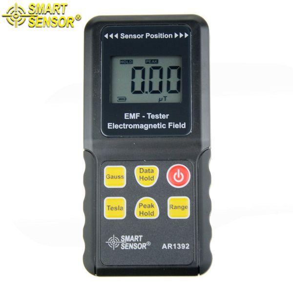 Freeshipping Smart Sensor AR1392 EMF Electromagnetic Radiation Meter Detector phone induction cooker gauss meter without box