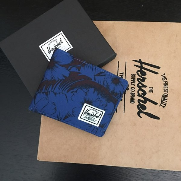Гершель бренд дизайнер роскошные сумки кошельки кошельки мужчины и женщины холст кошелек мода унисекс короткие монеты карманные карты пакет