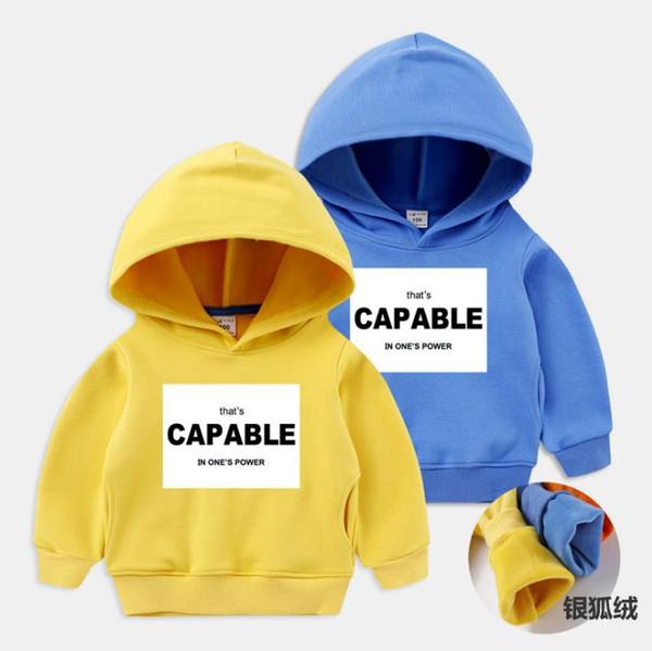 spring and autumn children's hoodie sweater plus velvet thicken autumn and winter new big boy cartoon cotton clothes