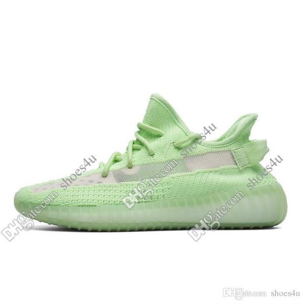 Kanye West V2 Statik Yansıtıcı Erkek Kadın Tereyağı Yarı Dondurulmuş sarı Mavi Tonu Zebra Krem Beyaz Erkek Kadın Koşu Tasarımcı Ayakkabı Boyutu 36-48