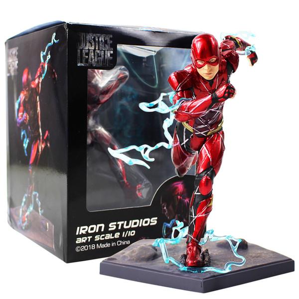 16cm The Flash Iron Studios Justice League Art Scala 1/10 Pvc Action Figure da collezione Model Toy J190719