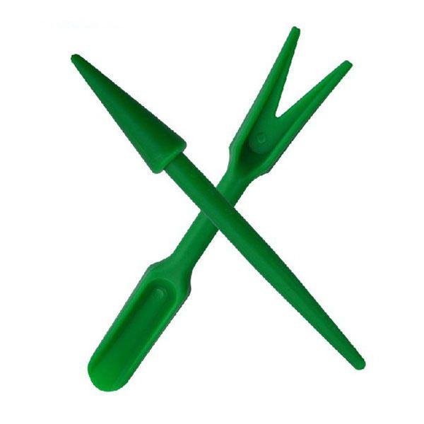 top popular 2pcs Plastic Dig Seedling Tools Hole Puncher Garden Toolsflower and vegetable planting, weeding, loosening soil 2021