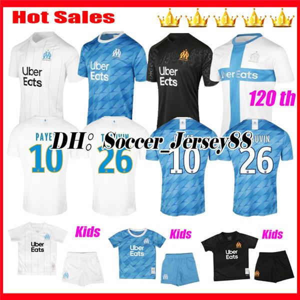 best selling 120TH 2019 2020 Olympique De Marseille soccer jersey 19 20 Marseille maillot de foot BENEDETTO Camisetas THAUVIN Maillots de football shirt
