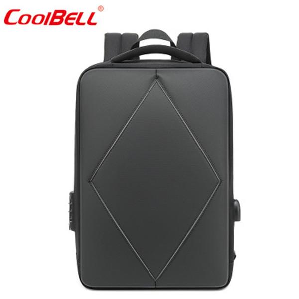 91e189b1ad1c9 COOLBELL Sırt Çantası Rahat Sırt Çantası Gece Yansıtıcı Seyahat Öğrenci  Çantası Basit Iş 15.6 inç USB