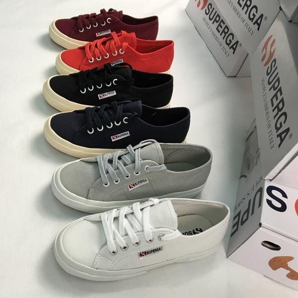 HOT 2016 TOP Qualité Italie marque Mode SUPERGA 2750 faible COTU CLASSIC UNISEX Toile Chaussures Casual Chaussures livraison gratuite