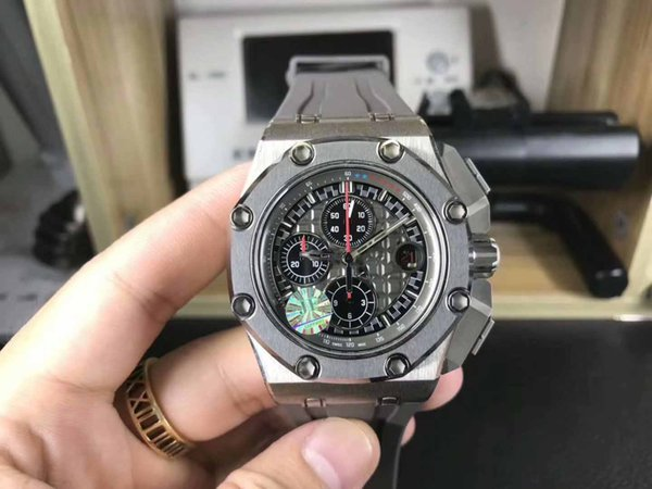 Mens High Quality Business Luxury Automatic Cal.3126 Movement Chronograph 12 Ceramic dial Mens Classic Diving swim Transparent Watches