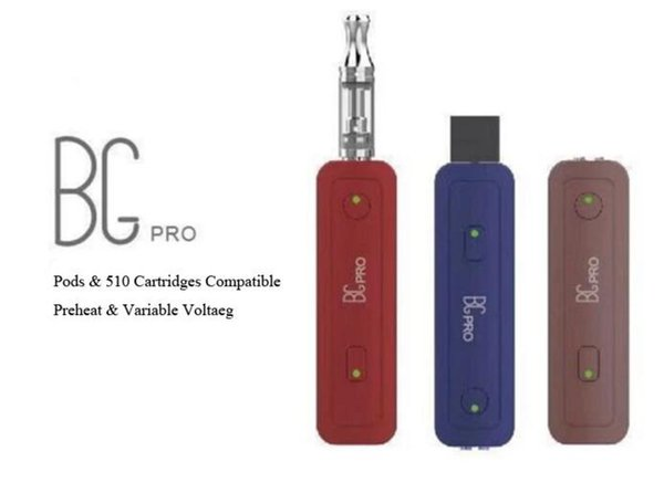 mini pod stylo vape préchauffage batterie vaporisateur mod pour pod et cartouches tension variable e cigarette 650 mah pod mod système stylo batterie