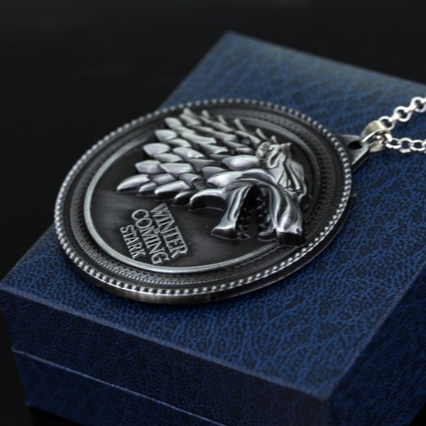 Game Of Thrones Necklace House Stark Winter Is Coming Metal Family Crest Pendant Jewelry Souvenirs Gift Maxi Wolf Punk Men Kids Earrings Jewelry For
