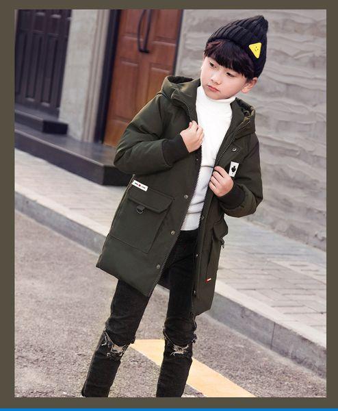Boy Childrens Wear Estilo medio suelto Mantener caliente Chaqueta con cremallera Abrigo Color puro Coreano Lin KaiYang