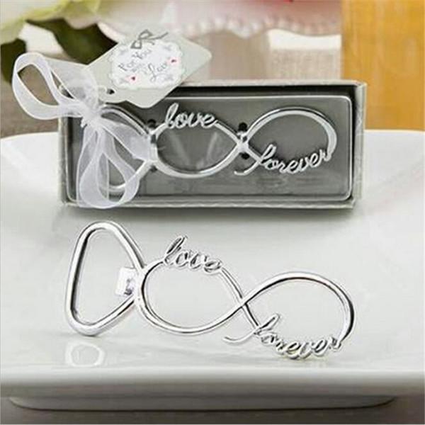 Love Forever Bottle Opener Bomboniere e regali Regali di nozze per gli ospiti Souvenir per feste Bomboniere
