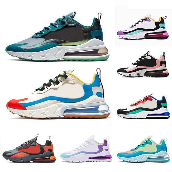 Nike Air Max 270 React In My Feels Grigio e arancione Travis Scott X React scarpe da corsa da uomo BAUHAUS Hyper Jade Bright Violet sneakers sportive da uomo