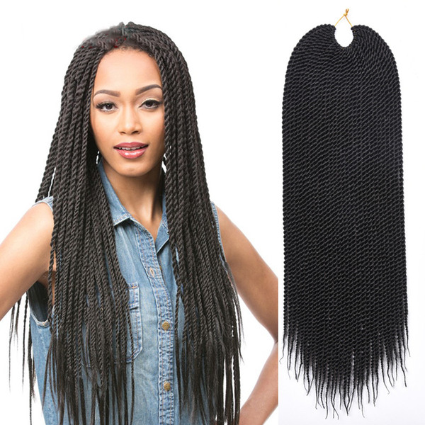 2019 Hot Sale 22inches Crochet Hair Braids Synthetic Braiding Hair Extensions Senegalese Twists Hairstyles For Black Women 30strands Pack From