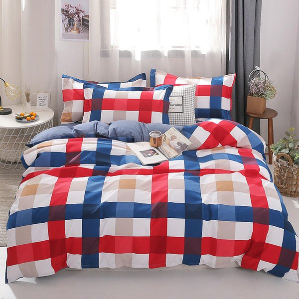 Fashion bedding sets bed linen Simple Style duvet MENGZIQIAN cover flat sheet Bedding Set Winter Full King Single Queen,bed set 2019