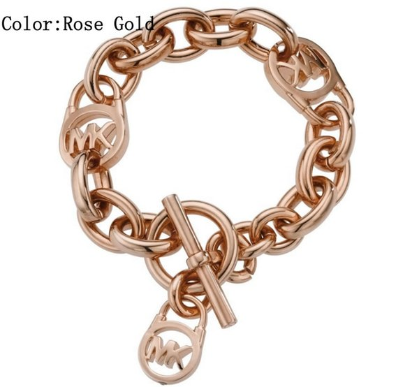 MOM SISTER MIMI NANA Fashion Gold Lock Ladies Bracelet High Quality Hot Sterling Silver Jewelry Free Shipping B011