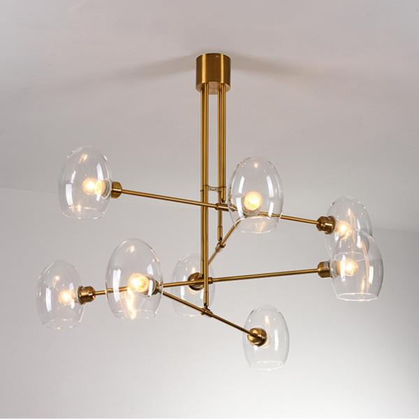 Decor Designer Chandelier Lighting For Living Room Nordic Dinning Room  Chandelier Glass Light Fixture For Bedroom/Study Room Nautical Pendant  Lights ...