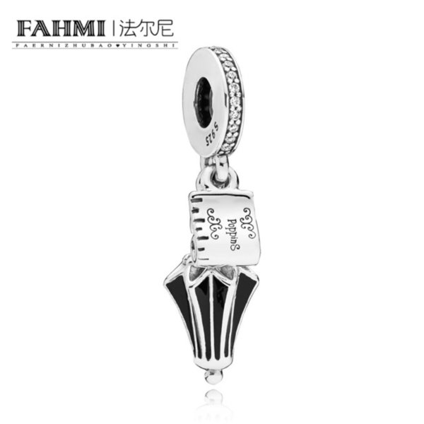 FAHMI 100% 925 Sterling Silver New Listing 797507CZ Poppins Umbrella Hanging Charm Original Jewelry Charming Women Holiday Gift