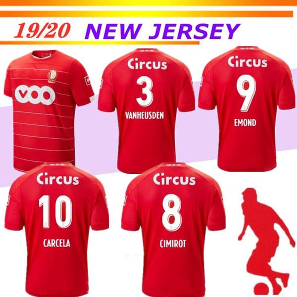 maillots de football Standard Liège rouge maison 2019 2020 R.STANDARD de Liège VANHEUSDEN LAIFIS CIMIROT EMOND football Carcela chemises thailande