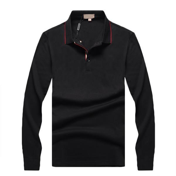 2019 Yeni Erkek Marka İş Gömlek Tasarımcı İş Bluzlar Elbise Gömlek Uzun Kollu B101071L yılında lüks Casual Katı Ofis İnce 3 Renk