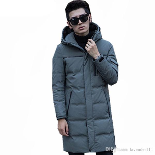 Moda Bianco anatra piumini Moncler Uomo caldo con cappuccio da uomo inverno Parkas spessore uomini Coat Solid Casaco Masculino