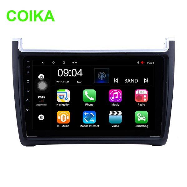 COIKA Car Auto GPS Navi Radio 9 `` Sistema Android 8.1 para Volkswagen Polo 2012-2015 DVD del coche Google Pantalla táctil BT WIFI SWC DVR RDS OBD AUX