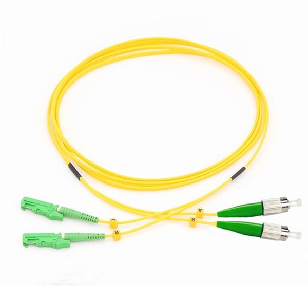 Cavo di toppa a fibra ottica SM DX E2000 / APC-FC / APC del PVC del maglione della fibra di 10Meter 2.0mm