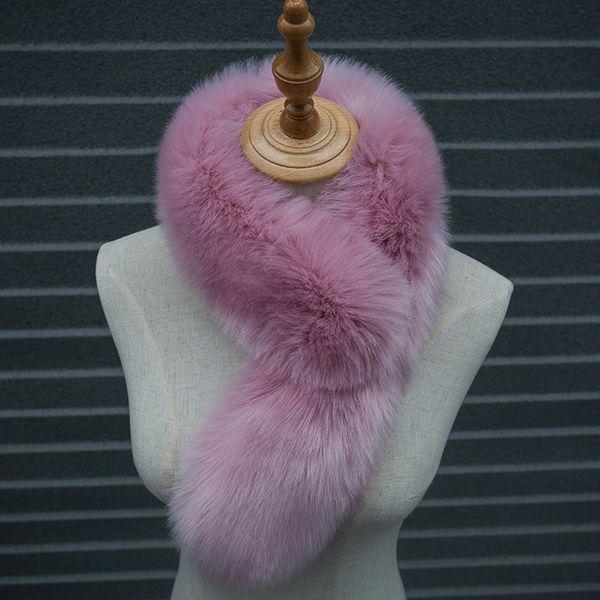 Naiveroo Winter Autumn Warm Faux Fur Collar Women Scarf Thick Warm Fur Coat Scarves Luxury Raccoon Long Neck Warmer Collar 75CM