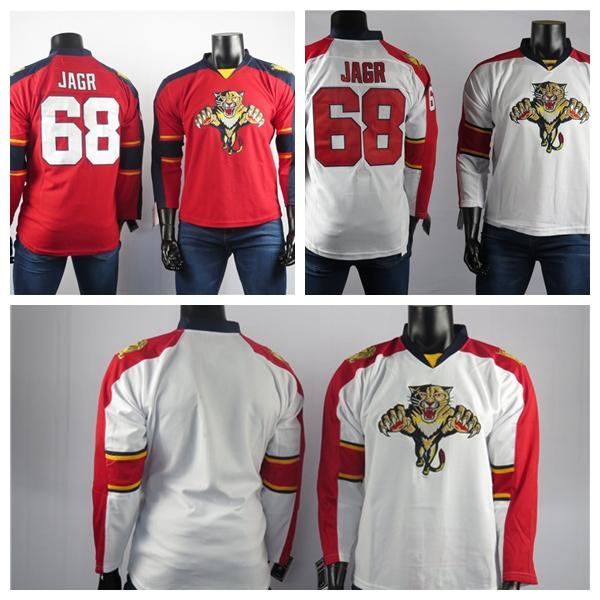Florida Panthers Jerseys The Best Player Of 68 Jaromir Jagr Jersey High Quality Embroidered Mens White Red Blank Ice Hockey Jerseys Stitched