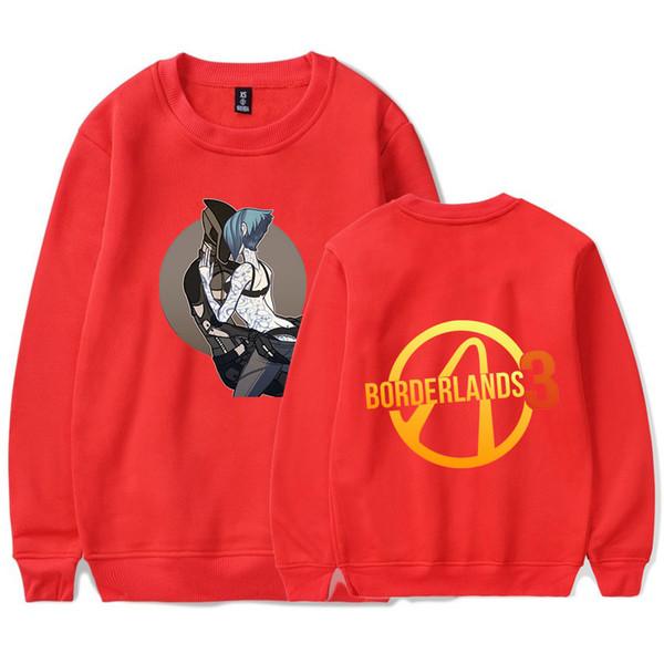 2019 Nova Em Torno do pescoço Homens Camisola Borderlands 3 Jogo de Impressão Harajuku Lazer Hot Camisola red Hip Hop Legal Boy / Girl Streetwear