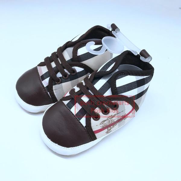 Designer First Walkers Unisexe Semelle souple Bébé Chaussures Élégant Chaussures de marque pour bébé Filles Vente en gros de chaussures de marque