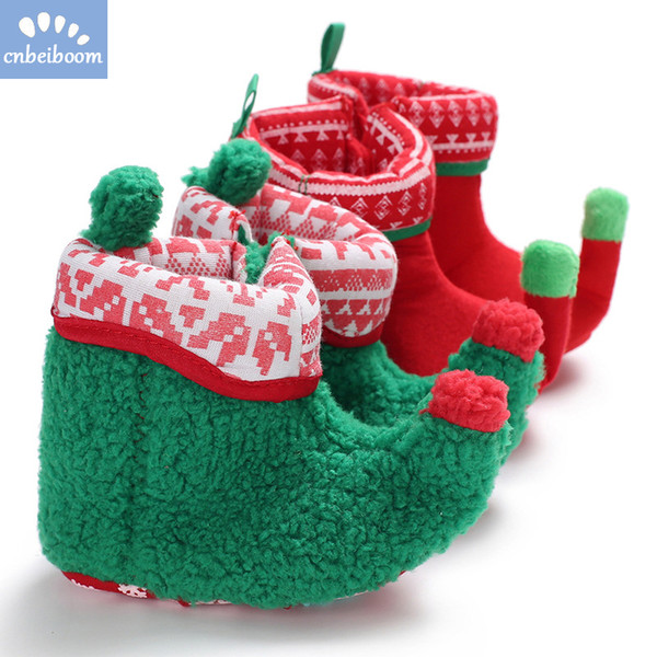2019 New year Christmas Baby Shoes Newborn Bootie Winter Warm Infant Toddler Snowboots Crib Shoes Classic Floor Boys Girls Boots